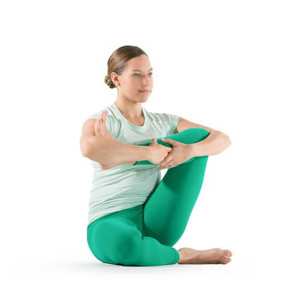 How to Stretch Glutes ? Seated Leg Cradle - Glute Stretch