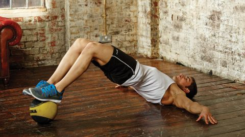 Medicine Ball Glute Bridge