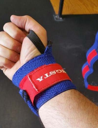 20 inch Gangsta wrist wrap blue and red color