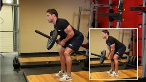 Exercise 2 Lats - Bent over two arms with T Bar row