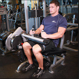Exercise 3 Hamstring-step1 - Seated Leg Curls