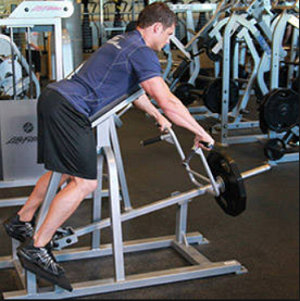 Exercise 4 Lats- step 1 - Lying T Bar Row
