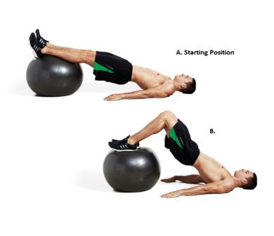 Exercise 5 Hamstring - Ball Leg Curl