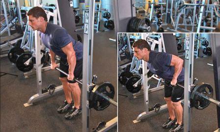Exercise 5 Lats - Smith Machine Bent over Row