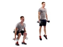 calf exercise 3 - Dumbbell Jump Squat