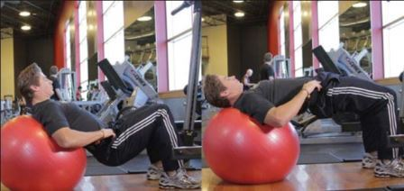 exercise 5 glutes - Physio Ball Hip Bridge