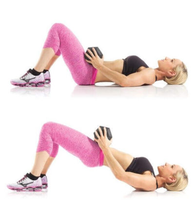 Glute Bridge with Dumbbells
