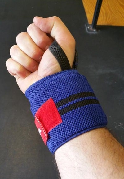 36 inch Gangsta wrist wrap blue and red color