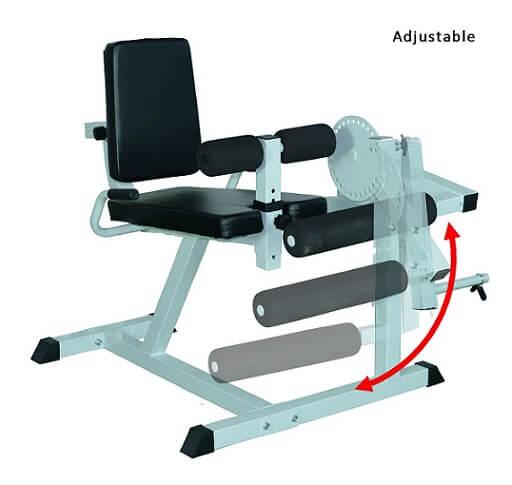 Soozier Adjustable Leg Curl Machine