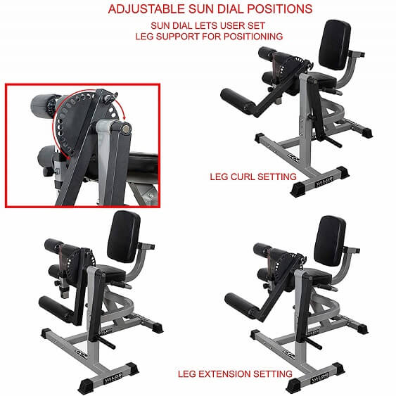 Valor Fitness CC-4 Adjustable leg machines for home