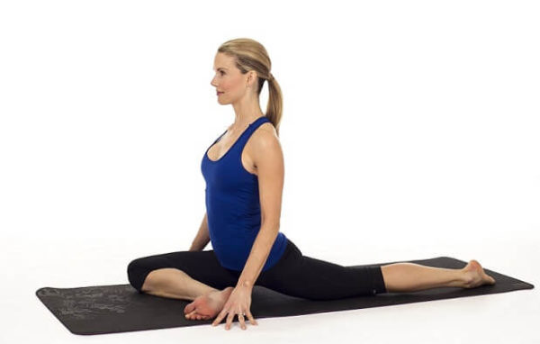 Pigeon Pose for glute Stretch