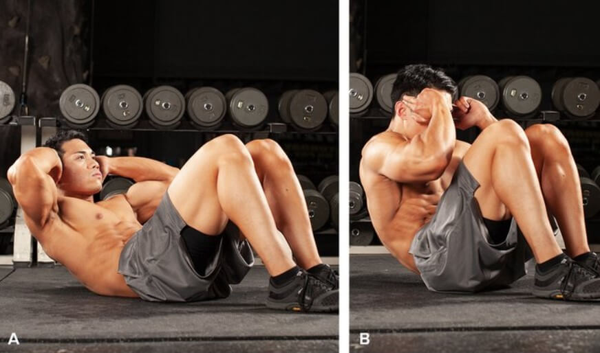 Abdominal Workout 4 - Knees Crunch