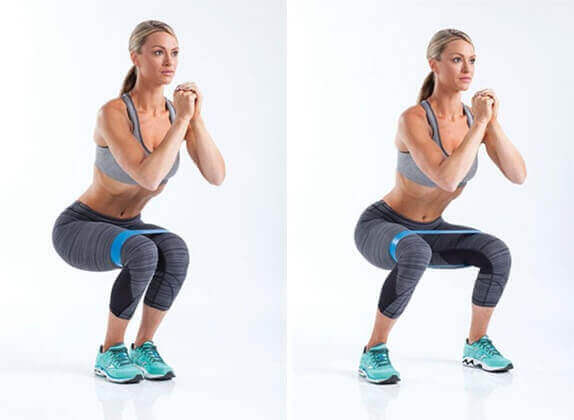 Banded Butterfly Squats