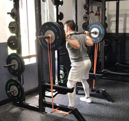 Banded Squats Powerlifting