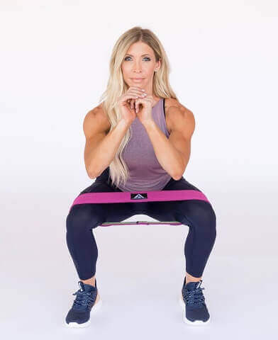 Banded Squats for glutes activation and hips at home