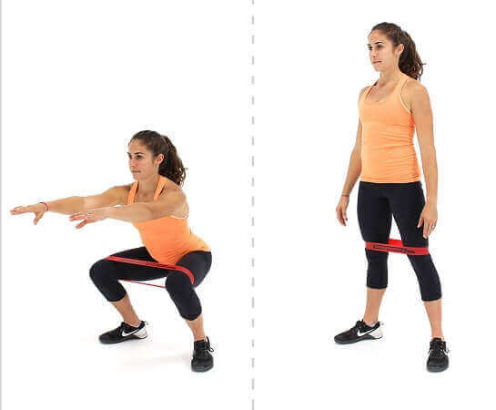 Banded Squats with Loops