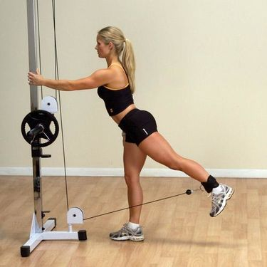 Cable Glute Kickback Machine Exercise