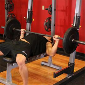 Chest exercise 1 Step 1 - Barbell Bench Press Workout