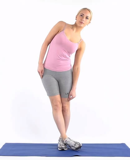Crossover Stretch - standing inner thighs stretch
