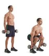 Exercise 5 Thighs - Weighted Narrow Squats
