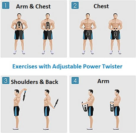 Exercises using Adjustable Power Twister