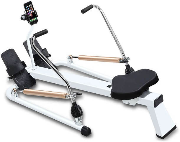 Fitbill Rowing Machine with Workout App Hydraulic Resistance