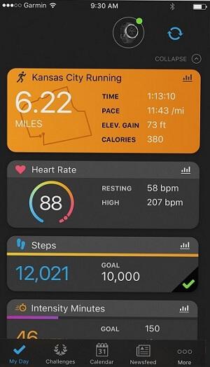 Garmin vivoactive 3 running path tracker for fitness activity