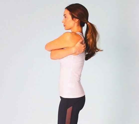Interchanging Chest Hugs Stretch - shoulder stretch - min