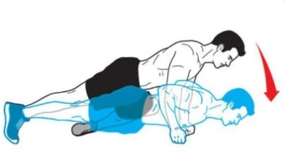 Knee to Opposite Elbow Knuckle Push Up