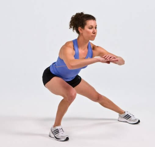 Lateral Squat - inner thigh stretches