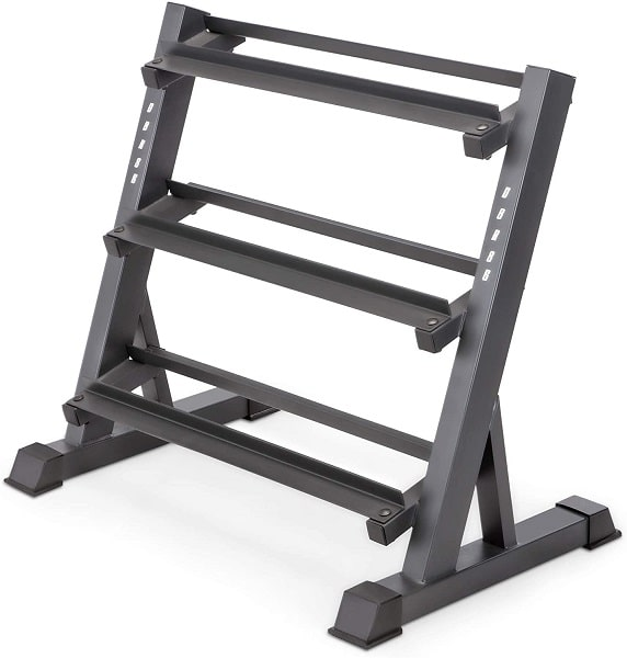 Marcy 3 layers Stand Dumbbell Weight Rack organizer for Home Workout Gym