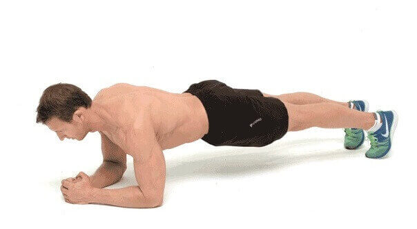 Plank-to-PushUp Triceps workout with Palms clasped together