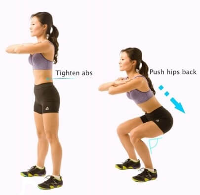 Squat for Women Quad workout