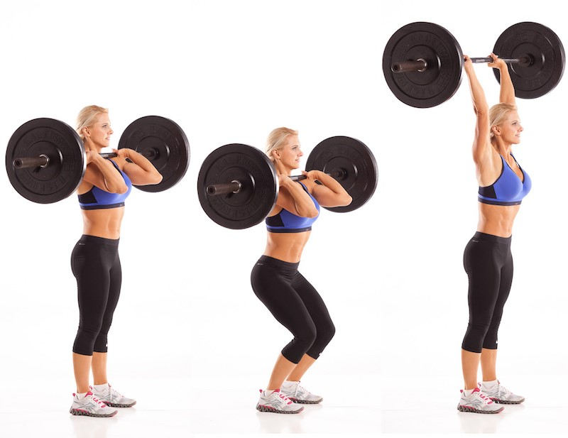 Shoulder Exercise 1 - Barbell Push Press