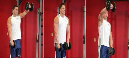 Shoulder-Exercise 10 - Alternate Front Dumbbell Raise