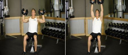 Shoulder-Exercise 4 - Seated Dumbbell Press Overhead