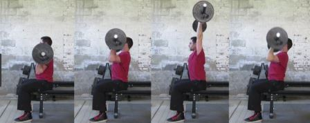 Shoulder-Exercise - 5 - Seated Barbell Press Overhead