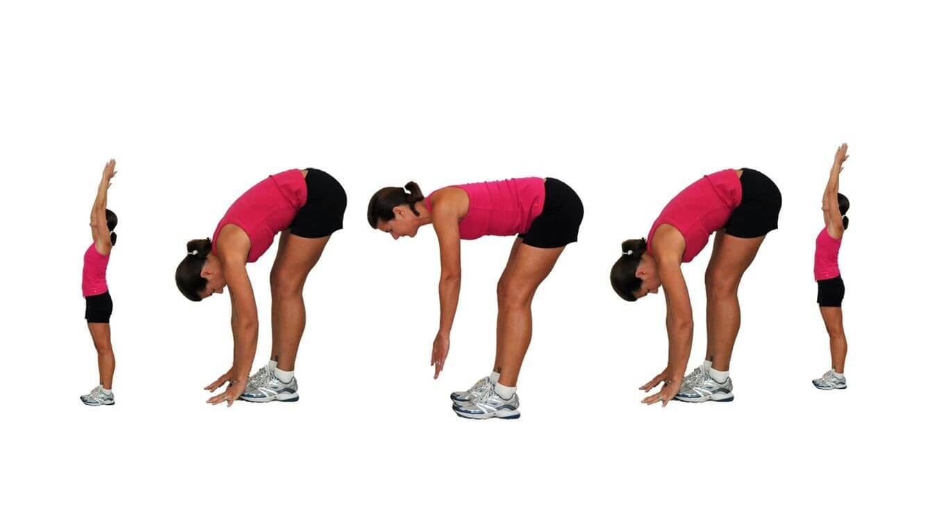 Spine Workout women 1 - Sun Salutations