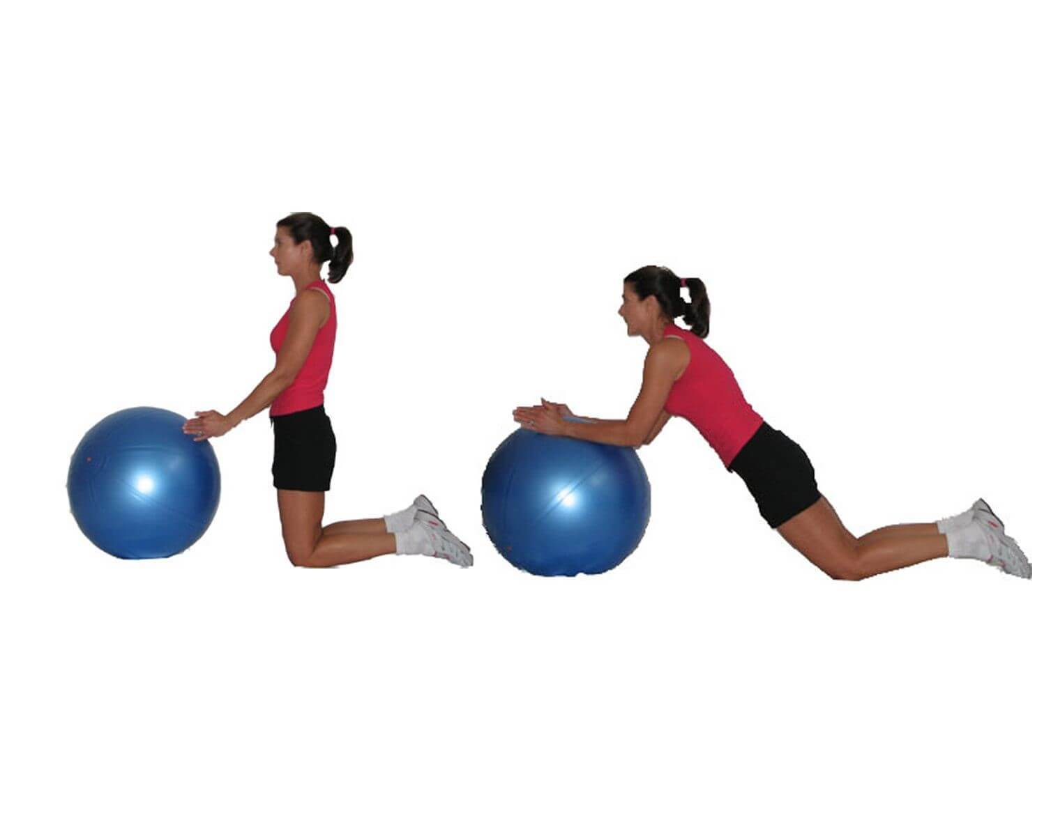 Spine Workout women 2 - Ball Rollouts
