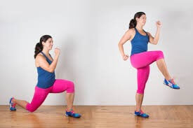 Reverse Lunge Women Thigh workout