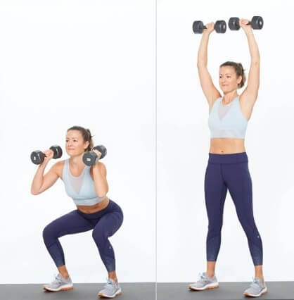 Thruster for Women Thighs workout