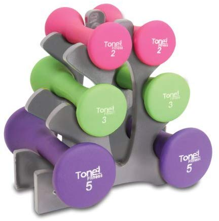 Tone Fitness Hourglass Dumbbell Set