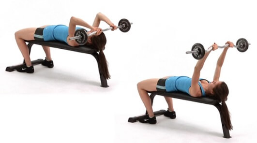 Skull crusher for Triceps Women