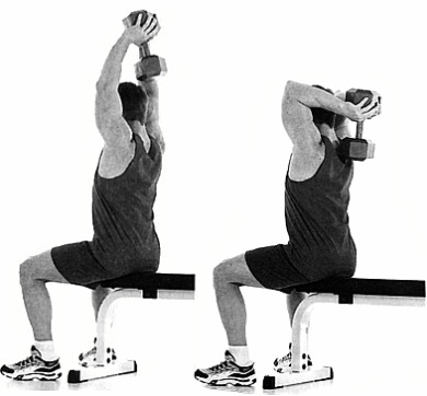 Triceps exercise 4 Overhead Triceps Extension