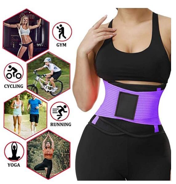 VENUZOR Waist Trainer Belt for Women - Sport Girdle Belt