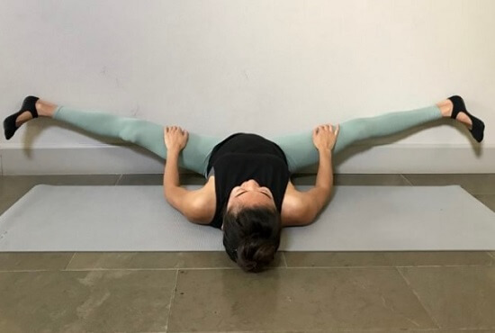 Wall Straddle Stretch - Inner Thighs
