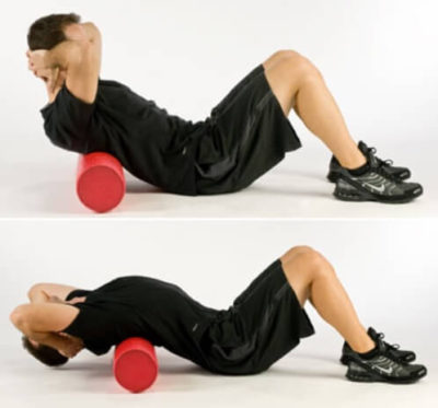 Warm up back - Foam Roller Back Extension