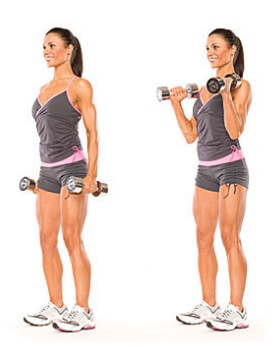 Women Hammer Curls