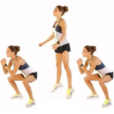 jump squats for Women Calves workout