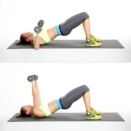 Women Bridge Chest Press workout